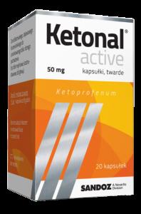 Ketonal Active 50mg x 20kaps.